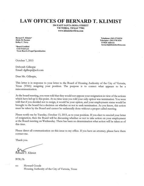 letter resignation board directors