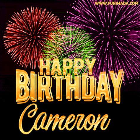 wishing   happy birthday cameron  fireworks gif
