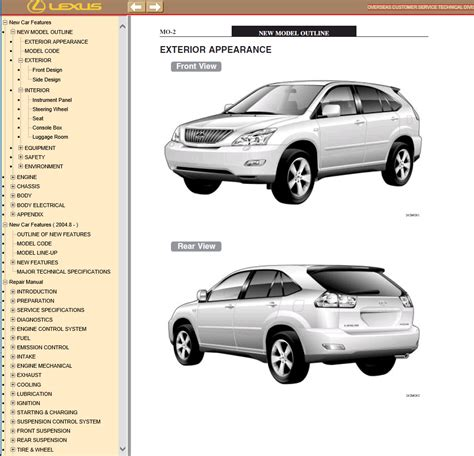 auto repair manual online 2004 lexus is spare parts catalogs lexus rx350 rx330 rx300 pdf manual