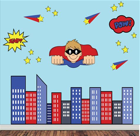 superheroes wall stickers wall decals