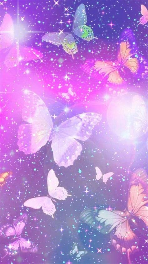 purple sparkly butterflies    sparkles