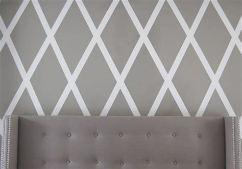 how to paint a diamond pattern on your wall maison d or no paint diamond wall