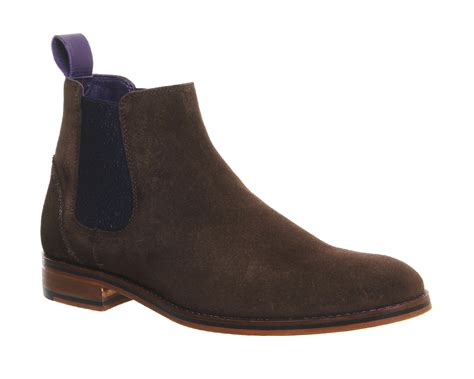 brown chelsea boots ted baker camroon 4 chelsea boots in brown for lyst