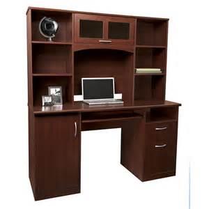 Landon Desk With Hutch Oak Realspace 174 Landon Desk With Hutch 64 Quot H X 55 1 2 Quot W X 23 Quot D Cherry Redecorate