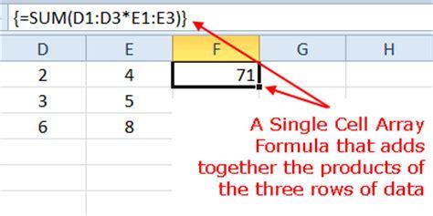 excel tutorial array formula excel single cell array formula