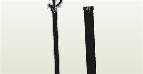 Elucidator Papercraft - kirito elucidator sword papercraft thứ cần mang