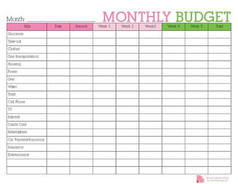 printable budget planner the 25 best monthly budget planner ideas on pinterest