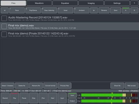 audio format for ipad kvr audio mastering for ipad by igor vasiliev mastering
