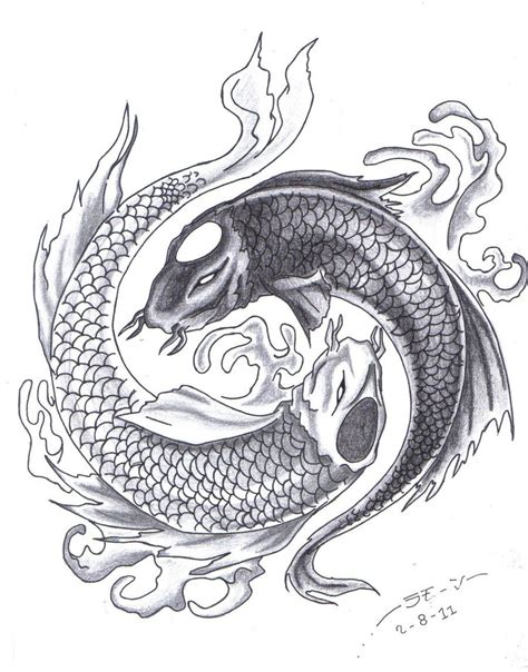 yin yang fish tattoos designs black and grey yin yang search kio fish