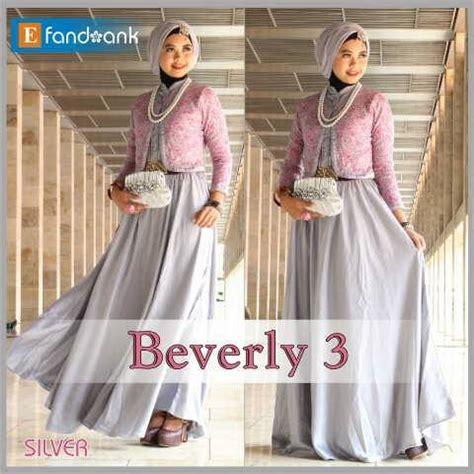 Gamis Pesta Warna Silver beverly 3 by efan silver baju muslim gamis modern
