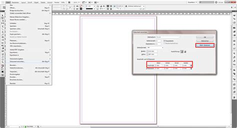 In Design Vorlage Briefbogen Tutorial Beschnitt M 252 Helos In Indesign Anlegen 187 Saxoprint