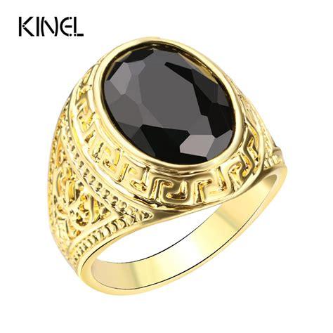 aliexpress buy mens rings black precious stones real