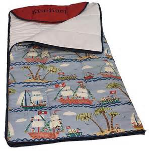 ahoy sleeping bag with attached pillow hoohobbers