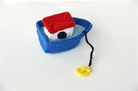 toy boat anchor little boat with anchor nautical amigurumi ocean theme