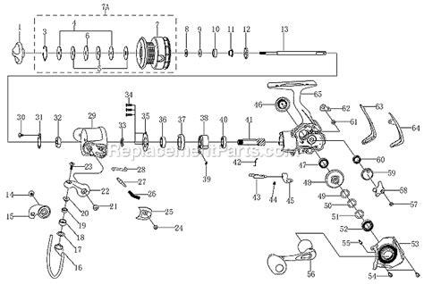 fishing reel parts diagram pflueger 6925 parts list and diagram ereplacementparts