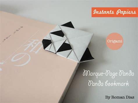 Origami Panda Bookmark - origami facile origami panda bookmark marque page origami