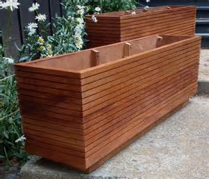 modern mahogany planter boxes mid century modern free