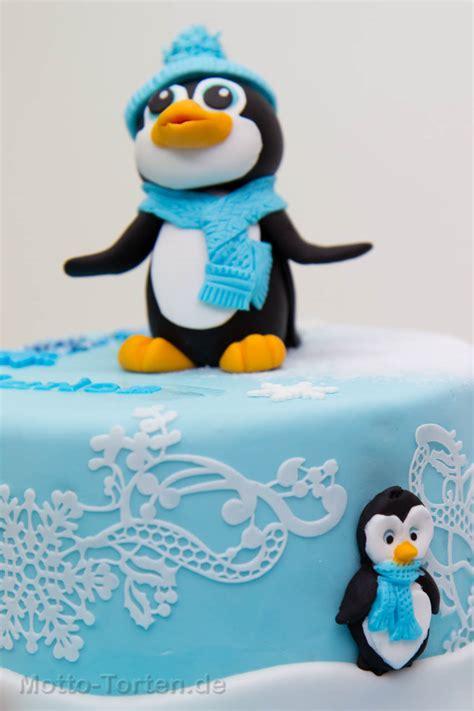 tauftorte pinguin motto tortende