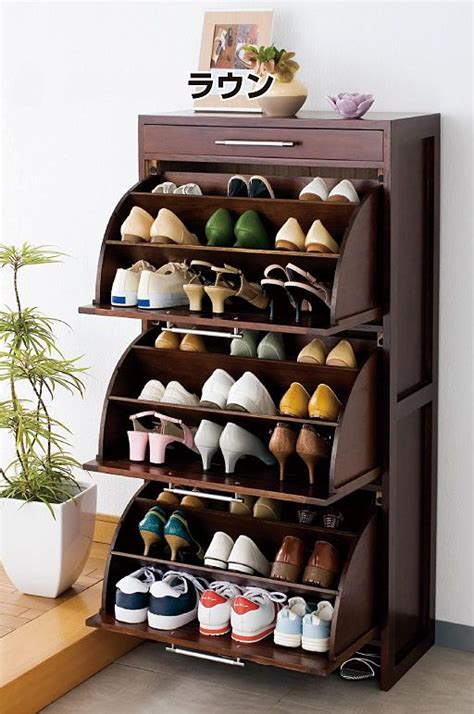 shoe storage furniture solid wood rotating shoe rack tipping shoe shoe shoe