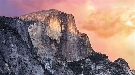 apple yosemite half dome at sunset hd desktop wallpaper widescreen