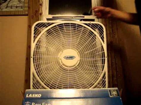 lasko 3720 box fan new 2010 2011 lasko weather shield 3720 youtube