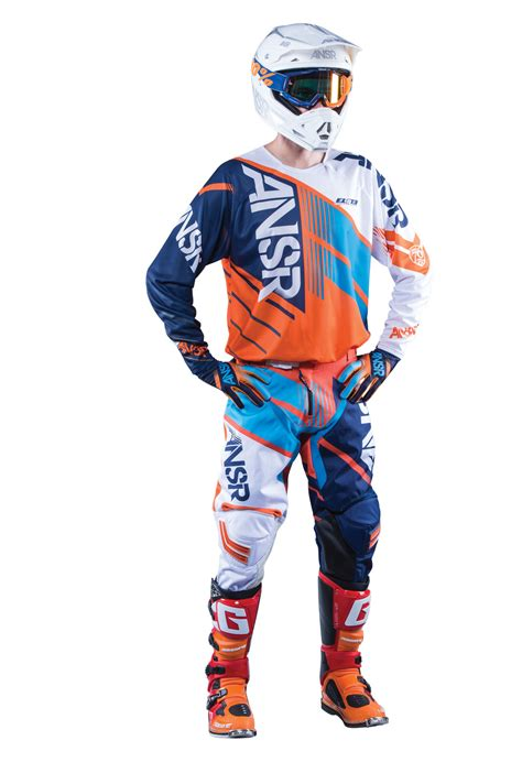 white motocross gear answer new 2016 mx gear elite dirt bike ktm orange cyan