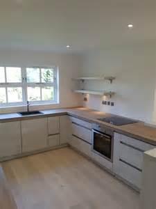Kitchen Cabinet Worktop Small White Kitchen Decoration Using Light Grey Solid