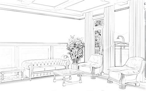 sketch room living room interior design sketches home sketches