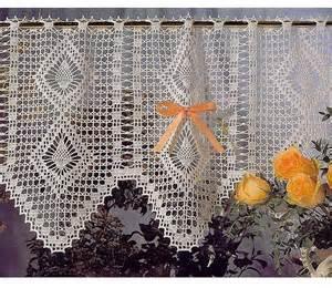 Crochet Kitchen Curtains Kitchen Curtains To Crochet Crochet