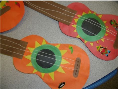Paper Guitar Craft - crafts actvities and worksheets for preschool toddler and
