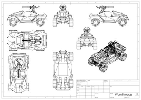 Warthog Blueprints Halo Costume And Prop Maker Community