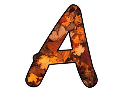 printable leaves with letters pretty cool printables teaching resources tes