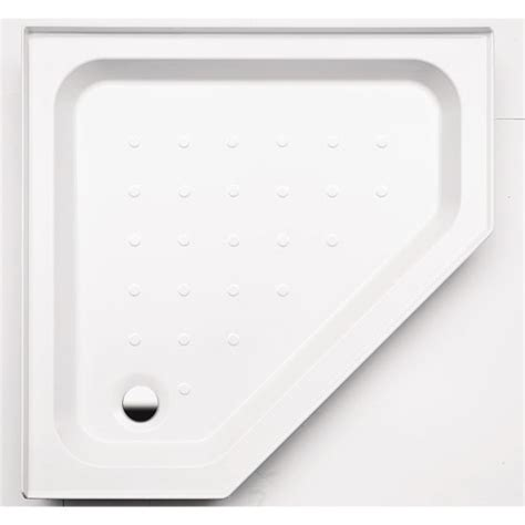 Coram Shower Trays With Upstands by Coram Universal Pentagon Shower Tray Now At