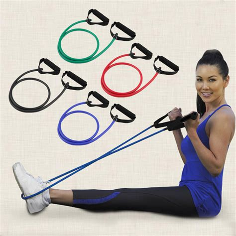 Elastic Rubber Stretch Rope Pilates Limited rubber fitness resistance band rope elastic