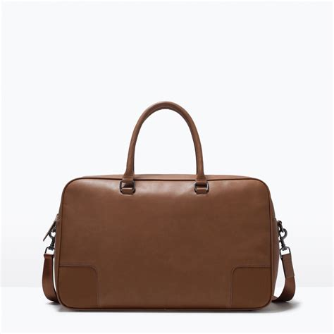 Zara Backpack Classic zara classic bowling bag in brown for leather lyst