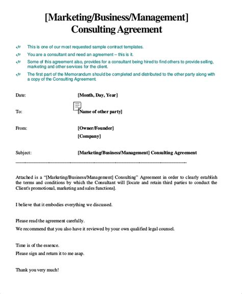 13 Marketing Consulting Agreement Sles Sle Templates Consulting Services Agreement Template