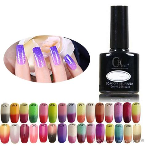 color changing shellac temperature change nail gel color nail shellac led uv