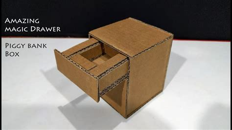 How To Make A Drawer Box Out Of Paper - diy how to make amazing magic drawer piggy bank box with