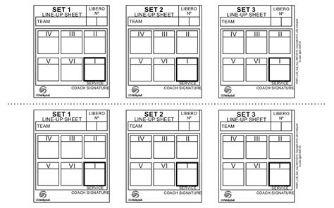 printable rules of volleyball volleyball lineup sheets printable