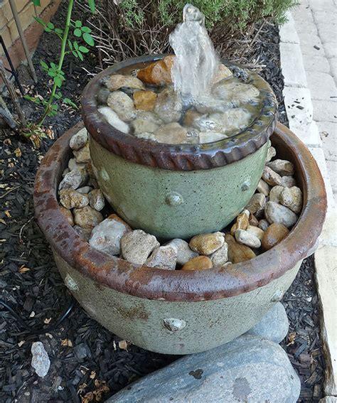 soothing diy garden fountains  garden glove