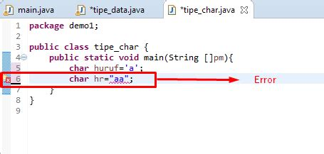 pattern java char tutorial java part 5 tipe data karakter pada java