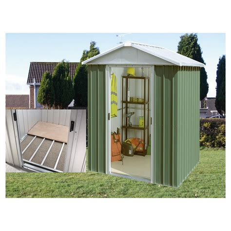 8x6 Metal Shed With Floor by Home And Garden Yardmaster 6 1x7 5 Titan Metal Apex Shed