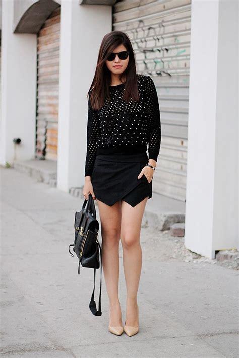 Black Origami Skort - classic and stylish ways to wear skorts ohh my my