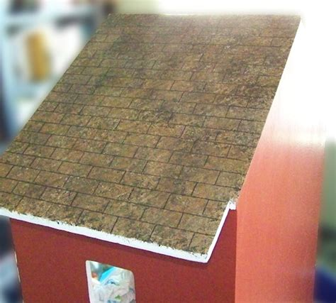 dollhouse roof shingles faux painted dollhouse shingles five dollar dollhouse