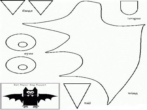 bat pattern for kindergarten paper bag bat craft patterns preschool crafts