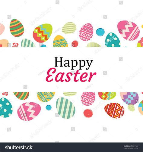 happy easter egg card template happy easter egg background template be stock vector