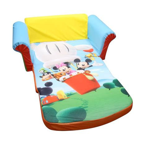 mickey mouse clubhouse sofa bed spin master marshmallow furniture flip open sofa mickey