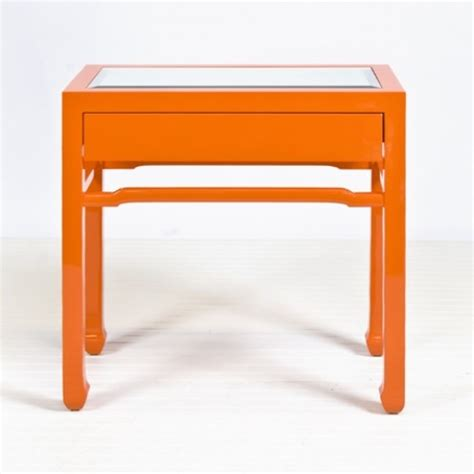 orange accent table nightright orange side table contemporary side tables