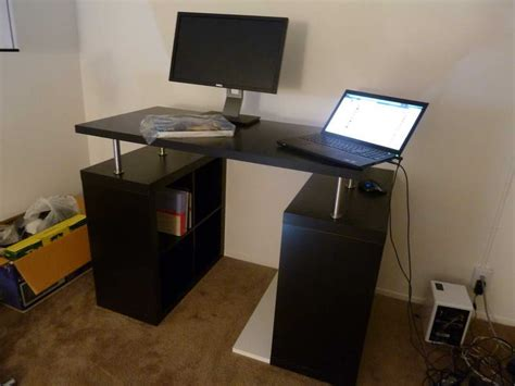 Standing Laptop Desk Ikea Furniture Ikea Standing Desk With Computer Monitor Standing Desk Ikea Furnishing Idea For