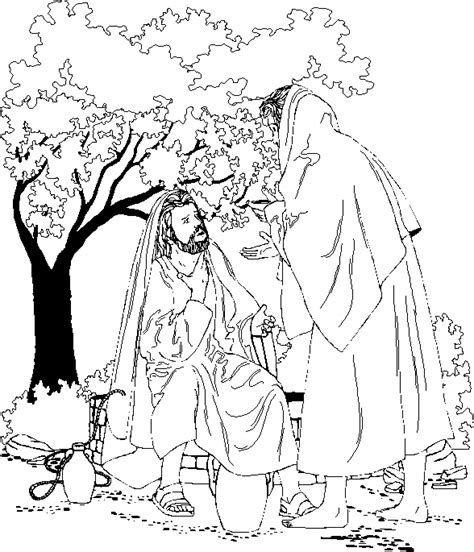 jesus and the samaritan at the well coloring pages jesus